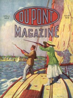 The 1919 Grand American Handicap Trapshooting Tournament, Front Cover of the 'Dupont Magazine',… by American School