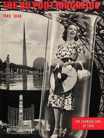 The Chemical Girl, Front Cover of the 'Dupont Magazine', June 1940