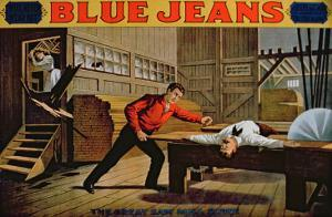 The Great Saw Mill Scene', Poster for 'Blue Jeans' by American School