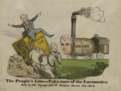 The people's line--Take care of the locomotive, 1840 by American School