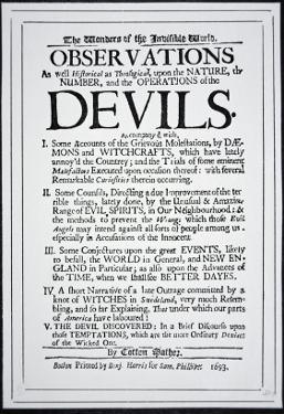 Title-Page of a Witch Hunt Pamphlet by Cotton Mather Printed in Boston, 1693 by American School