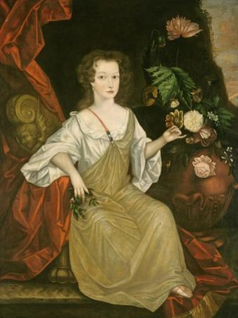 Young Woman with a Butterfly, c.1710 by American School