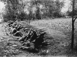 American Soldiers on Maneuvers During the Philippine Insurrection