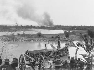 American Soldiers Watching Boat During Philippine Insurrection