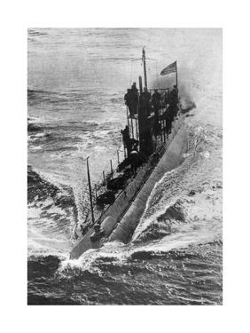 American Submarine 'Preparedness' at Full Speed, First World War, 1914-1918