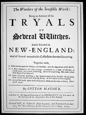 Title-Page of a Witch Hunt Pamphlet by Cotton Mather Published in 1693 (Print) by American