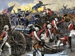 Americans Capturing a British Redoubt during the Battle of Yorktown, c.1781