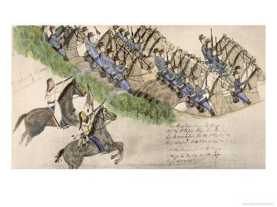 Opening of the Battle of the Little Big Horn