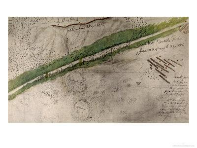 Topographical Chart of the Battlefield of the Little Big Horn
