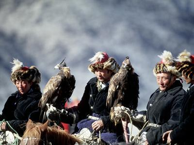 Eagle Hunters at the Golden Eagle Festival, Mongolia