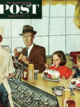 """""""Banana Split"""" Saturday Evening Post Cover, August 16, 1952 by Amos Sewell"""