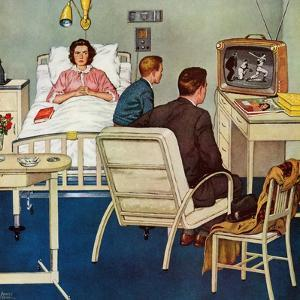 """Baseball in the Hospital,"" April 29, 1961 by Amos Sewell"