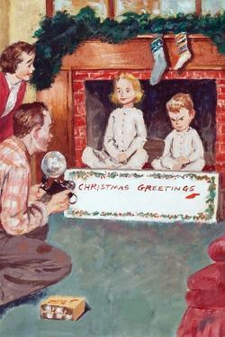 Christmas Greetings by Amos Sewell