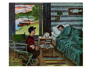 """Dad, the Fish are Biting,"" August 25, 1962 by Amos Sewell"
