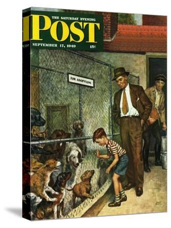 """""""Dog Pound,"""" Saturday Evening Post Cover, September 17, 1949"""