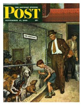 """""""Dog Pound,"""" Saturday Evening Post Cover, September 17, 1949 by Amos Sewell"""
