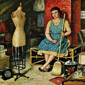 """""""Former Figure"""", January 26, 1957 by Amos Sewell"""