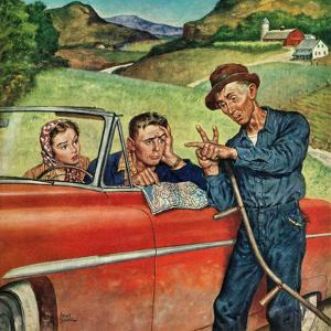 """""""Go Two Miles, Turn Left..."""", July 9, 1955 by Amos Sewell"""