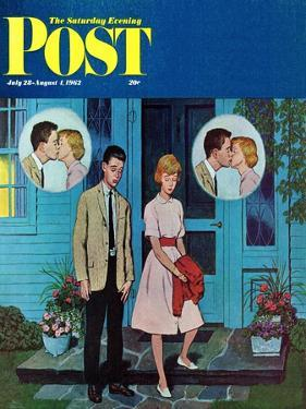 """Goodnight Kiss,"" Saturday Evening Post Cover, July 28, 1962 by Amos Sewell"