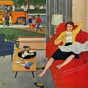 """""""Morning Coffee Break"""", September 12, 1959 by Amos Sewell"""