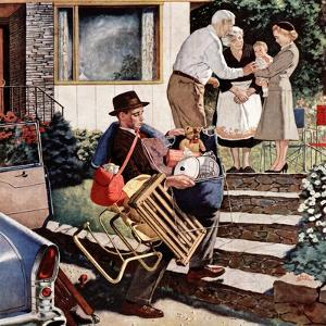 """""""Visiting the Grandparents"""", August 3, 1957 by Amos Sewell"""