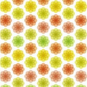 Abstract Colorful Flower Pattern by amovita