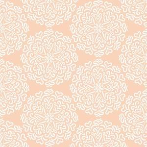 Elaborate Hand-Drawn White Pattern on Pink Background by amovita
