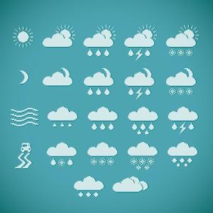 Pixel Weather Icons by amovita