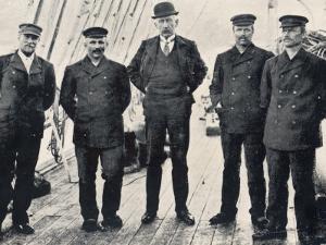 Amundsen and His Team at Hobart