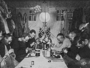 Amundsen and Others in Their Winter Quarters at the South Pole
