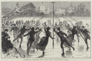 Amusements at Government House, Ottawa, Canada, the Maypole in Winter