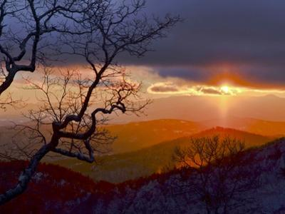 Sunset over the Blue Ridge Mountains by Amy & Al White & Petteway