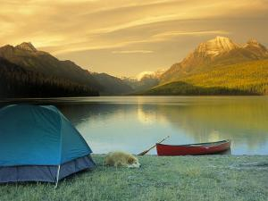 Camping, Bowman Lake, Glacier National Park, MT by Amy And Chuck Wiley/wales