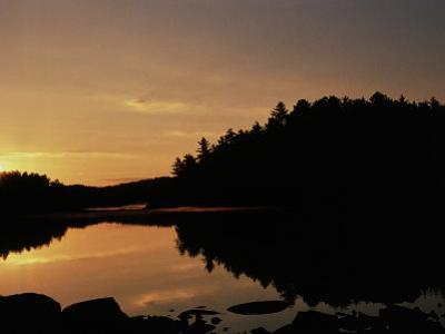 Sunrise Reflected in Iron Lake, Superior Nf, MN by Amy And Chuck Wiley/wales