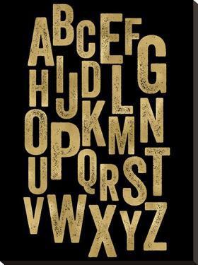 Alphabet Golden Black by Amy Brinkman