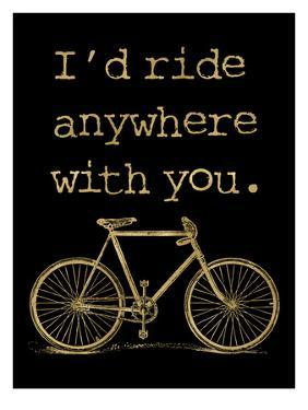 Bicycle I'd Ride Anywhere Golden Black by Amy Brinkman