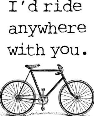 Bicycle Ride Anywhere Black by Amy Brinkman