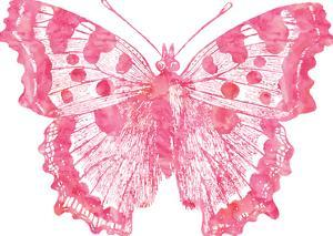 Butterfly 1 Pink Watercolor by Amy Brinkman
