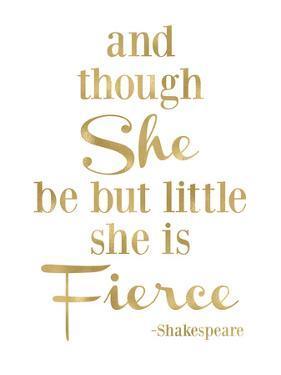 Fierce Shakespeare Golden White by Amy Brinkman