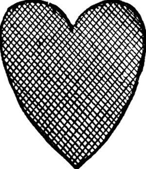 Heart Crosshatched Black by Amy Brinkman