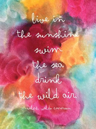Live In The Sunshine Watercolor by Amy Brinkman