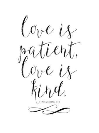 Love Is Patient Love Is Kind-Chalkboard-01 by Amy Brinkman