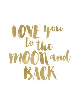 Love You To Moon Back Gold White by Amy Brinkman