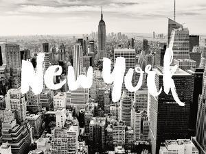 New York Skyline White by Amy Brinkman