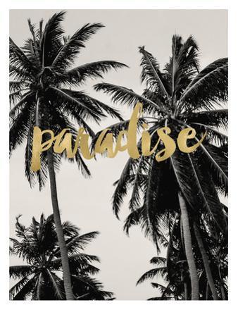 Paradise Palm Trees Golden