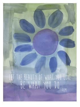 Rumi Watercolor Beauty Of Love by Amy Brinkman
