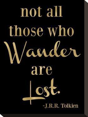 Wander Lost Golden Black by Amy Brinkman