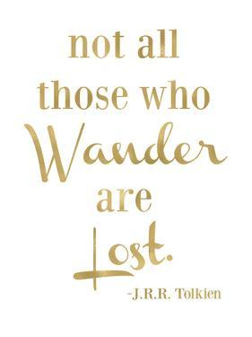 Wander Lost Golden White by Amy Brinkman