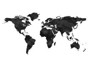 World Map Wc Black by Amy Brinkman