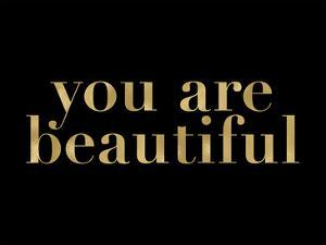 You Are Beautiful Golden Black by Amy Brinkman